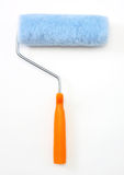 Paint roller. Blue paint roller with orange handle Royalty Free Stock Photo