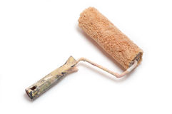 Paint roller. A paint roller after painting Stock Photography