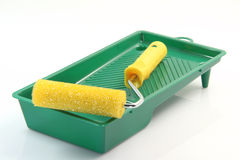 Paint Roller And Pan Stock Photography