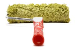 Paint Roller (Back View) Royalty Free Stock Photos