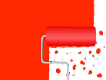 Paint Roller background 2 Stock Photos