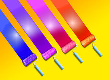 Paint roller background Stock Photos