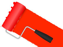 Paint Roller background Stock Photography
