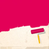 Paint and roller background pink Royalty Free Stock Photos