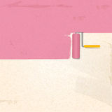 Paint and roller background pink2 Stock Photography