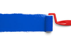 Paint Roller Blue Stock Photos