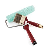 Paint roller and brush Royalty Free Stock Photo