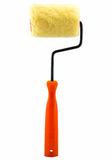 The paint roller brush. Isolated on white background Stock Images