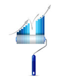 Paint roller business graph illustration design Royalty Free Stock Images