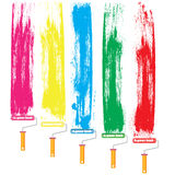 Paint roller and color stock illustration