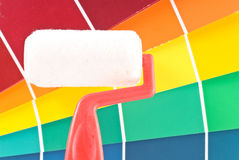 Paint Roller with Color Wheel Royalty Free Stock Image