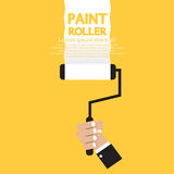 Paint Roller. In Hand Vector Illustration Royalty Free Stock Photo