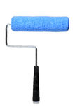 Paint Roller Isolated over white background. Blue paint roller isolated over white background Stock Image