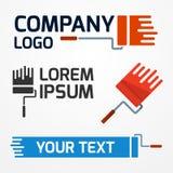 Paint roller logo Stock Photo