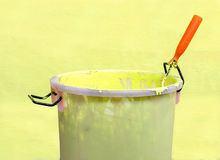 Paint-roller and Paint bucket Stock Photography