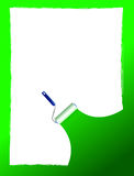 Paint roller and paint stripe frame. illustration Stock Photography