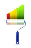 Paint roller real estate graph illustration design Stock Photo
