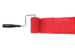Paint Roller With Red Royalty Free Stock Images