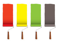 Paint roller stripe Stock Images
