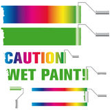 Paint roller vector design element set vector illustration