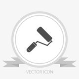 Paint roller vector icon Royalty Free Stock Images
