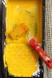 Paint roller Stock Photo