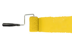 Paint Roller With Yellow Stock Images