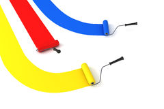 Paint rollers Stock Images
