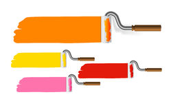 Paint rollers Royalty Free Stock Photo