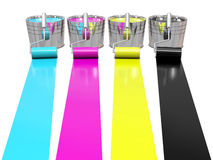 Paint rollers and buckets Stock Image