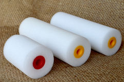 Paint rollers Stock Photos