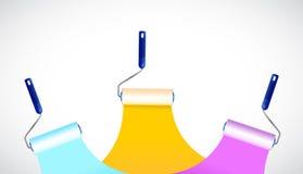 Paint rollers illustration design Stock Photos