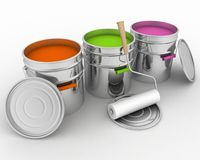 Paint and rollers Stock Photography