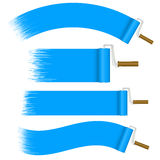 Paint Rollers Set - blue Royalty Free Stock Photo
