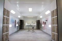 Paint Room Auto Repair Shop Stock Photo