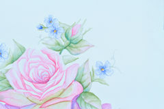 Paint rose Royalty Free Stock Image