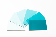 Paint sample cards stock photography