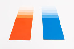 Paint sample cards royalty free stock image