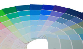 Paint Samples. Colorful paint samples over white Stock Images