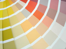 Paint samples. Colour samples Stock Images