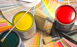 Paint samples. Royalty Free Stock Images