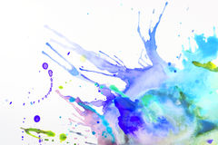 Paint on a sheet of paper royalty free stock photo