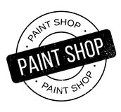 Paint Shop rubber stamp vector illustration