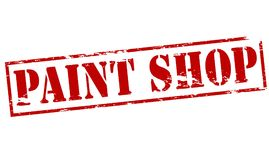 Paint shop. Rubber stamp with text paint shop inside,  illustration Stock Image