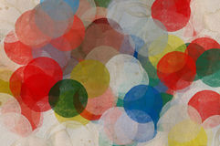 Paint smudged circles. Abstract paint smudged circles illustration. Colorful grungy background Stock Photography