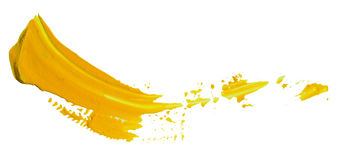 Paint smudges. Funny color paint smudges on white paper Royalty Free Stock Images