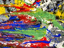 Paint smudges. Color chaos. Mixed different colors royalty free stock images
