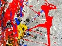 Paint smudges. Color chaos. Mixed different colors. Expressionism royalty free stock images