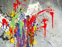 Paint smudges. Color chaos. Mixed different colors. Expressionism. Paint smudges. Color chaos. Mixed different colors Expressionism royalty free stock photography