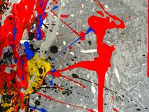 Paint smudges. Color chaos. Mixed different colors. Expressionism. Paint smudges. Color chaos. Mixed different colors Expressionism royalty free stock photos